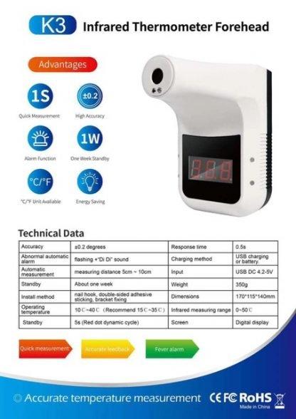 Infrarood Thermometer technische data